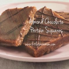 Fit Fashion Mom : Almond Chocolate Protein Squares - FIXATE cookbook