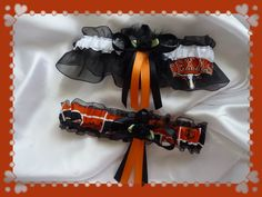 Texas LONGHORNS Wedding Garter Set
