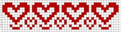Beaded Hearts Border PATTERN loom
