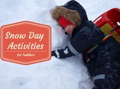 Toddler Snow Day Activities @HomeLifeAbroad.com #toddleracticvities #snowday