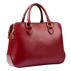 Your Gallery Simple Formal Faux Leather Pure Color Work Messenger Shoulder Bag for Women, burgundy: Handbags: Amazon.com
