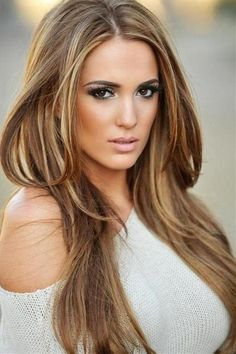 blonde highlights in brown hair OMG I WANT THIS COLOR HAIR @Stephany Hsiao Martinez !!!!!❤