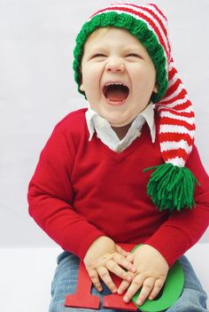 Santas Helper Knitted Elf Hat -i found a patter for something similar ...