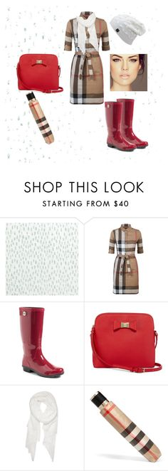 """""""Rainy Day London"""" by darrylstidham ❤ liked on Polyvore featuring Bluebellgray, Burberry, UGG, Liz Claiborne and Calvin Klein"""