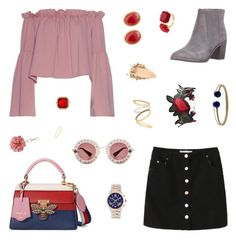 """Morning Madness"" by belenloperfido ❤ liked on Polyvore featuring Ted Baker, Gucci, Miss Selfridge, MICHAEL Michael Kors, David Yurman, Monet, Kenneth Jay Lane, Les Néréides and Madewell"