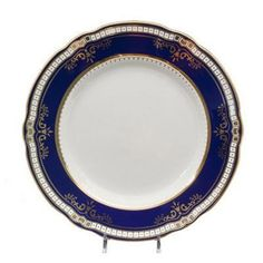 1st class dinner plate with real gold decal