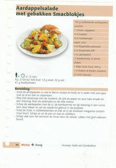 aardappelsalade met gebakken smacblockjes