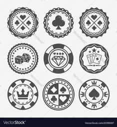 Casino and poker chips vector round badges. casino and poker chips Poker Tattoo, Casino Party Decorations, Casino Theme Parties, Casino Royale, Las Vegas, Chip Tattoo, Design Facebook, Poker Chips Set, Bond