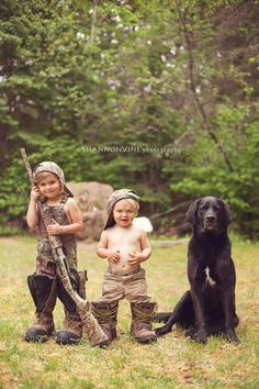 Jenny is the hunter, Stuart is the tracker and Timber is the babysitter!