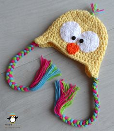 Custom Crochet Easter Chick Earflap Animal Hat for Newborn Baby, Infant Toddler, Child or Cute Photo Prop by MEYS MADE for Cool Kids