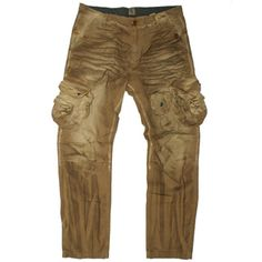 PRPS cargo pants in Brown E61P31A, Free Shipping at CelebrityModa.com