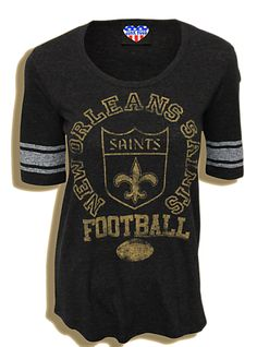 New Orleans Saints football baseball-tee! So cute! I need to get this for next season!
