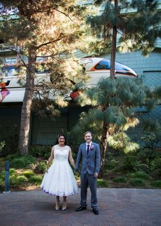 Getting married at Disneyland was Paul's idea, but Alex was convinced when she learned how easy Disney would make the planning process vs. their original idea of L.A.'s Natural History Museum!
