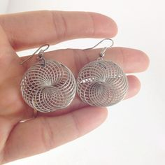 Silver spiral wire earrings Length is about 1.3 inches. This is a new retail item, Nwot Jewelry Earrings