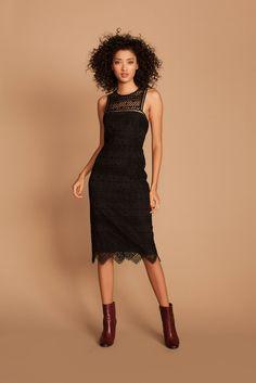 Trina Turk | Pre-Fall 2017 fashion collection | LBD & boots
