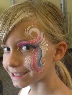 #faceNbodyPaint Karen Sawyer || one stroke eye design