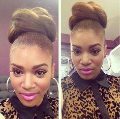 Angela from LA hair- High natural bun