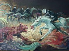 """Il mio giardino"" 60x100, Olio su tela"