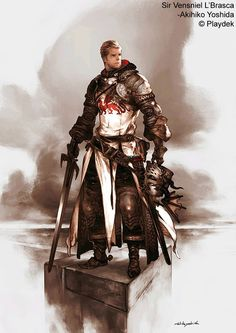 Sir Vensniel L'Brasca of Unsung Story, by Akihiko Yoshida, Character Designer for FF:T, FFXII, Tactics Ogre and Bravely Default