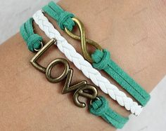 personalized bracelets   nfinite  love bracelets by lifesunshine, $6.99
