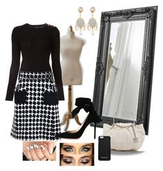 """""""ɬῳɛɛɖ"""" by lulala002 ❤ liked on Polyvore featuring Derek Lam, Chanel, Gianvito Rossi, MICHAEL Michael Kors, Dolce&Gabbana, paris, french and tweed"""