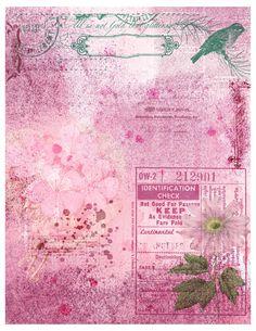 Vintage Grunge, Vintage Shabby Chic, Vintage Roses, Journal 3, Journal Pages, Journal Ideas, Printable Scrapbook Paper, Paper Design, Paper Crafting