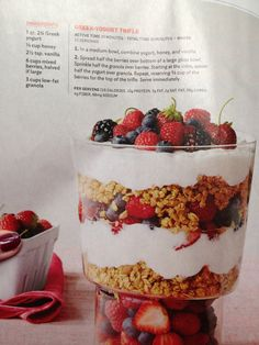 Greek yogurt trifle