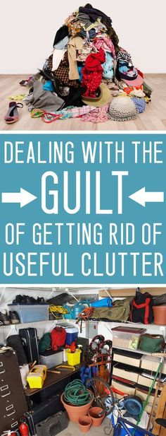 Dealing With The Guilt of Letting Useful Clutter Go Decluttering tip: Is your home full of empty glass jars, broken appliances and old clothes? Ditch the guilt about hanging onto this stuff- LET GO OF THE CLUTTER! Organisation Hacks, Clutter Organization, Kitchen Organization, Getting Rid Of Clutter, Getting Organized, Clutter Control, Declutter Your Life, Declutter Home, Clutter Free Home