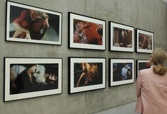 $3,900,000. Centerfolds/Horizontals by American artist Cindy Sherman at the Kunsthaus exhibition hall in Bregenz, Austria. Untitled #96 (1981) - top row, second left - sold at Christie's in 2011