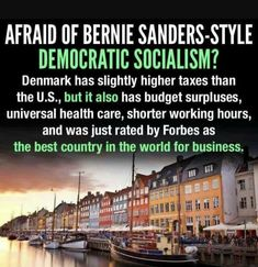 Understand Democratic Socialism... your TaxDollars working for you! Not Corporate Thieves or Politicians stealing your Earned Benefits!!!