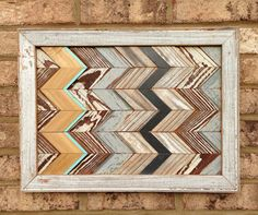 Your place to buy and sell all things handmade Wood Mosaic, Salvaged Wood, Wood Patterns, Wood Wall Art, Wood Projects, Chevron, Scrap, Design Inspiration, Rustic