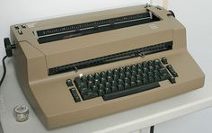 IBM Selectric.  My trusty sidekick when i first entered the corporate office world.  Kinda wish I still had it for old times sake.