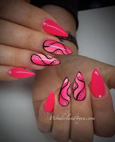 by Sabina Rzucidło Wonderland4U, Follow us on Pinterest. Find more inspiration at www.indigo-nails.com #nailart #nails #indigo #pink