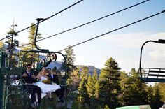 """""""bring all the guests on a ski lift ride pre or post ceremony"""" at Mt. Charleston - HAHAHAHAHAHAHA. Now that's unique.  Maybe a wedding when the snow has dusted the peaks so its a pretty backdrop."""