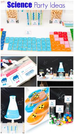 Awesome science party ideas for a boy birthday! See more party ideas at CatchMyParty.com. #madscientist #boybirthday