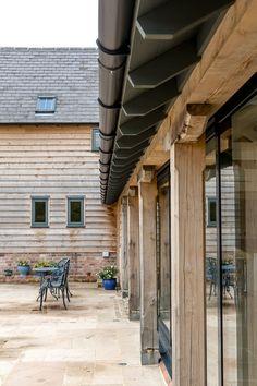 Home Farm, Shropshire Barn Conversion OHA - Owen/Hicks Architecture Barn Conversion Exterior, Barn House Conversion, Barn Conversions, Contemporary Barn, Modern Barn, Modern Farmhouse, Stommel Haus, Cottage Extension, Oak Frame House
