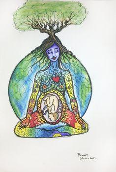 """earthy birthy mother goddess""    by Pamela"
