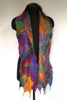 "50/50 extra fine Australian merino wool / mulberry silk, ponge silk fabric, silk chiffon fabric, cotton gauze fabric, silk yarn. Length 70"" (178 cm) Width 8"" (20 сm) Weight 3,3 oz (94 gm)"