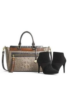 Pair it: Textured booties with a textured handbag