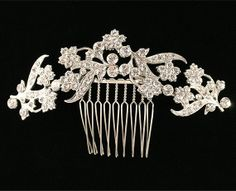 Rhinestone bridal comb  Wedding hair accessory  by NaugiTiaras, $115.00