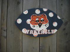 auburn football door hanger - auburn tigers - football door decor - gifts for dad - fathers day  -  birthday