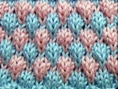 Punto Ropa Bebé #7 How to Knit a Baby Stitch 2 Agujas (311) - YouTube