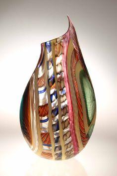 Gianluca Vidal Murano Glass studio vase LODARIO 7 reverse