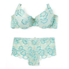 534f5a0ae New York Elegance Green Floral Lace Push-Up Bra   Boyshorts (€9