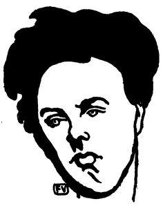 Portrait d Arthur Rimbaud, 1898 de Felix Vallotton Switzerland) Portrait Illustration, Graphic Illustration, Art Nouveau, Magic Realism, Illustrations, French Art, Art Reproductions, Creative Art, Printmaking