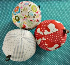 Sewn balls as baby gifts