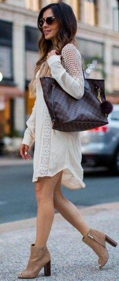 #summer #trendy #outfits | White Crochet Dress