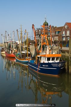 Harbour of Neuharlingersiel on the North Sea Coast