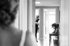 Dad's first look. By Eva Bradley Photography