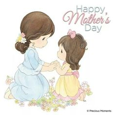 Precious Moments Coloring Pages, Precious Moments Quotes, Precious Moments Figurines, Happy Mothers Day Images, Mothers Love, Mother Card, Inspirational Words Of Wisdom, I Love You Mom, Mothers Day Crafts